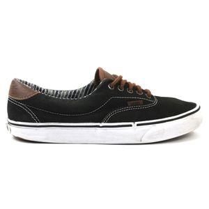 Vans Mens 9.5 Shoes Low Black Brown Leather